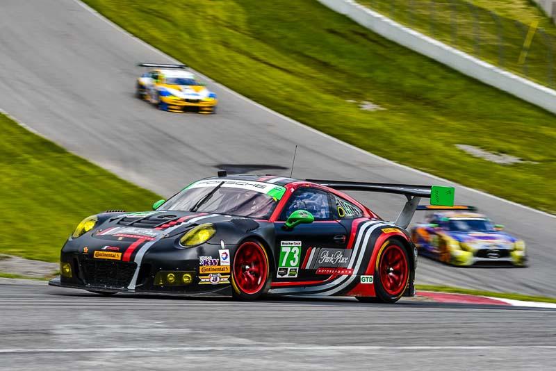 Porsche 911 GT3 R, Park Place Motorsports (73): Joerg Bergmeister, Patrick Lindsey