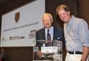 Presentation/launch 356 set by Hans-Peter Porsche (left) and Henk Koop (right) at the International Porsche Collectors Day in Traumwerk