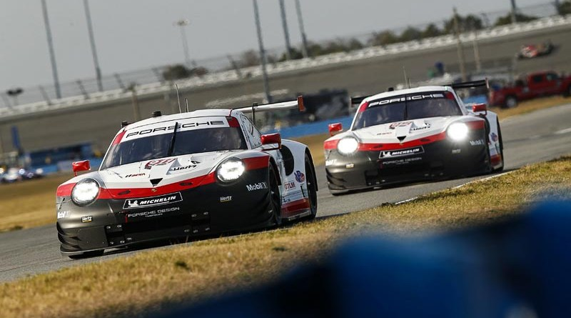 Porsche 911 RSR (911), Porsche GT Team: Patrick Pilet, Nick Tandy, Frederic Makowiecki, Porsche 911 RSR (912), Porsche GT Team: Earl Bamber, Laurens Vanthoor, Gianmaria Bruni