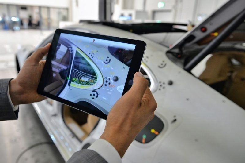 Porsche Inno-Space The augmented reality look and feel test is a typical example of how new innovations are developed and implemented