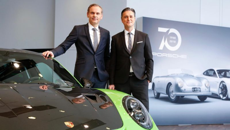 Oliver Blume, Chairman of the Executive Board of Porsche AG, Lutz Meschke, Deputy Chairman of the Executive Board and Member of the Executive Board for Finance and IT