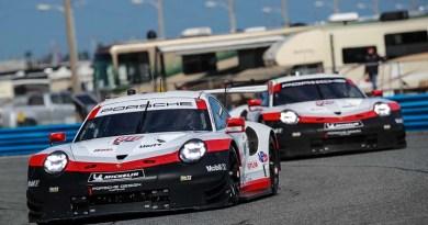 Porsche 12 Hours of Sebring Porsche 911 RSR (911), Porsche GT Team: Patrick Pilet, Nick Tandy, Frederic Makowiecki, Porsche 911 RSR (912), Porsche GT Team: Earl Bamber, Laurens Vanthoor, Gianmaria Bruni