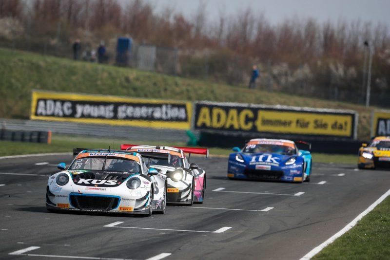 Porsche 911 GT3 R, KÜS Team75 Bernhard, Adrien de Leener (B), Klaus Bachler (A), Oschersleben 2018