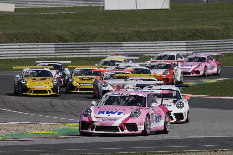 Start- Michael Ammermüller (D), Porsche Carrera Cup Deutschland, Oschersleben 2018