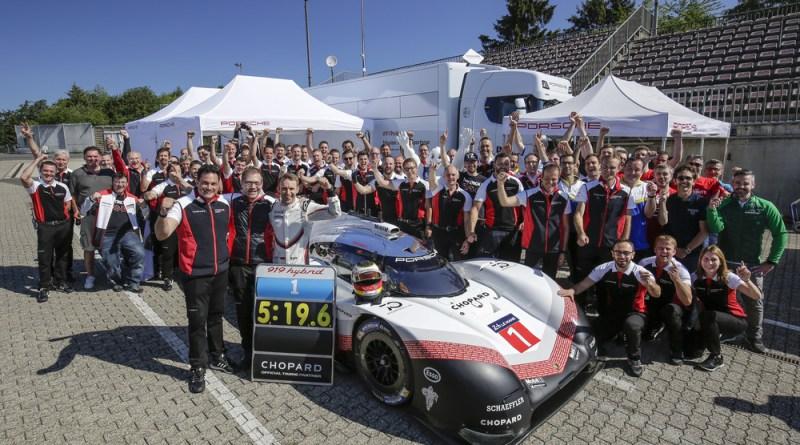Porsche LMP Team- Nordschleife record of Timo Bernhard and the Porsche 919 Hybrid Evo 7