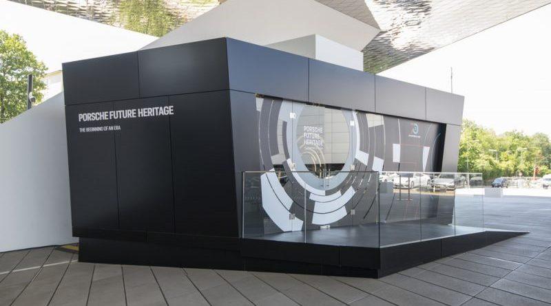 "Porscheplatz APP A virtual journey through time: ""Porsche Future Heritage""."