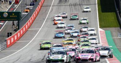 Porsche 911 GT3 Cup, Julien Andlauer (F), Porsche 911 GT3 Cup, Thomas Preining (A), Porsche 911 GT3 Cup, Florian Latorre (F), Porsche Mobil 1 Supercup, Spielberg 2018