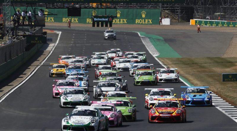 Start, Porsche 911 GT3 Cup, Florian Latorre (F), Porsche Mobil 1 Supercup, Silverstone 2018