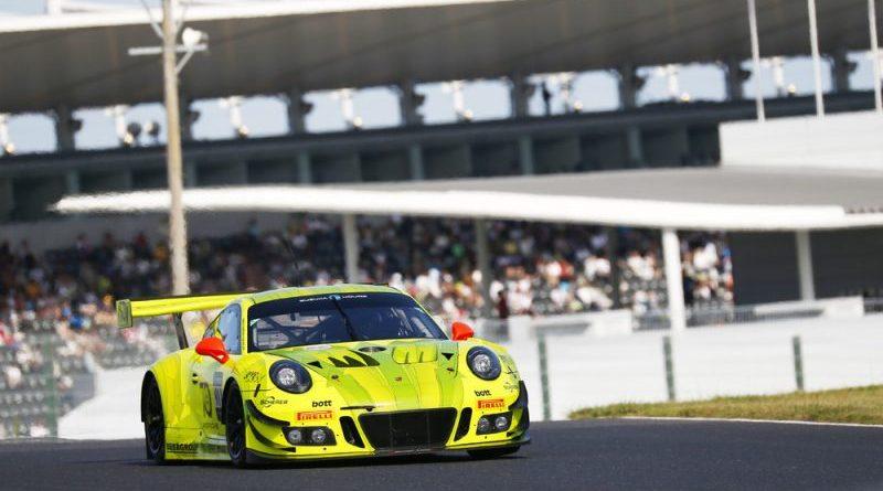 Manthey-Racing, Porsche 911 GT3 R (911)- Romain Dumas (F), Frederic Makowiecki (F), Dirk Werner (D), Suzuka 2018