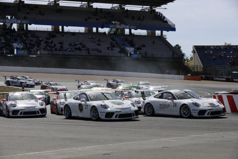 Porsche 911 GT3 Cup, Jean-Baptiste Simmenauer (F), Porsche 911 GT3 Cup, Dylan Pereira (L), Porsche Carrera Cup Deutschland, Nürburgring II - 2018