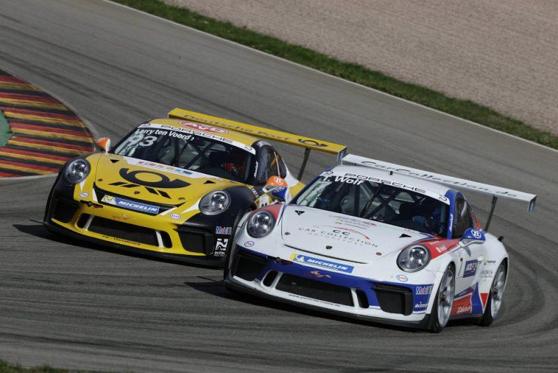 Porsche 911 GT3 Cup, Larry ten Voorde (NL), Toni Wolf (D), Porsche Carrera Cup Deutschland, Sachsenring - 2018