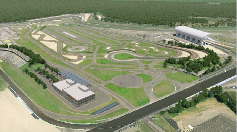 The Hockenheimring Porsche Experience Center will cover a total area of 160,000 square metres