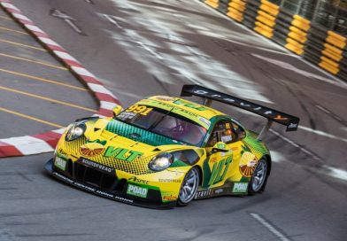 Four Porsche 911 GT3 R at the world's toughest street race in Macau