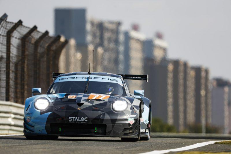 Porsche 911 RSR, Dempsey Proton Racing (77), Julien Andlauer (F), Matt Campbell (AUS), Christian Ried (D), Shanghai 2018
