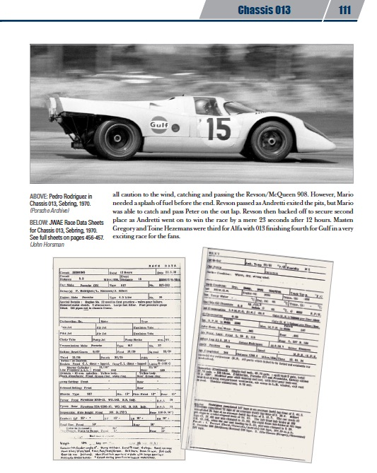 Gulf 917 by Jay Gillotti contains of scans of original race data sheets (c) www.daltonwatson.com
