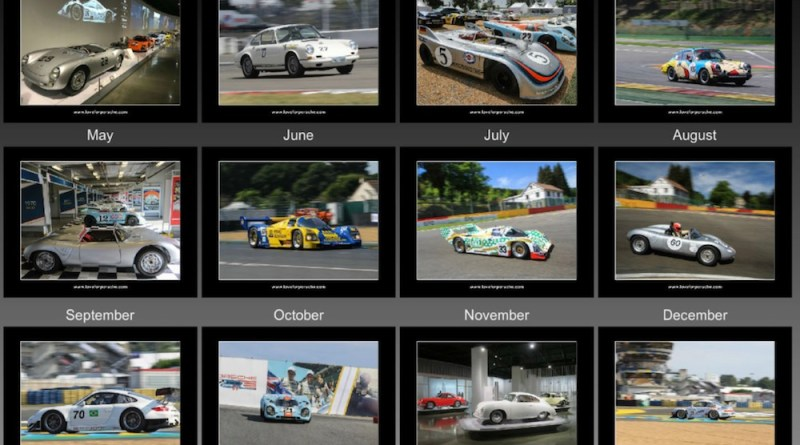Love for Porsche - Liebe zu Ihm Porsche and Motorsport Calendar 2019
