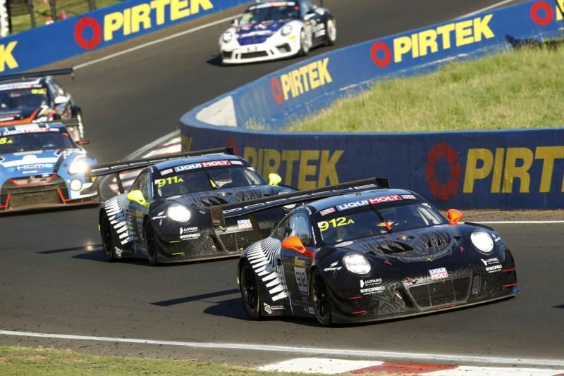 EBM, Porsche 911 GT3 R (912)- Dirk Werner, Dennis Olsen, Matt Campbell, Porsche 911 GT3 R (911)- Romain Dumas, Sven Müller, Mathieu Jaminet