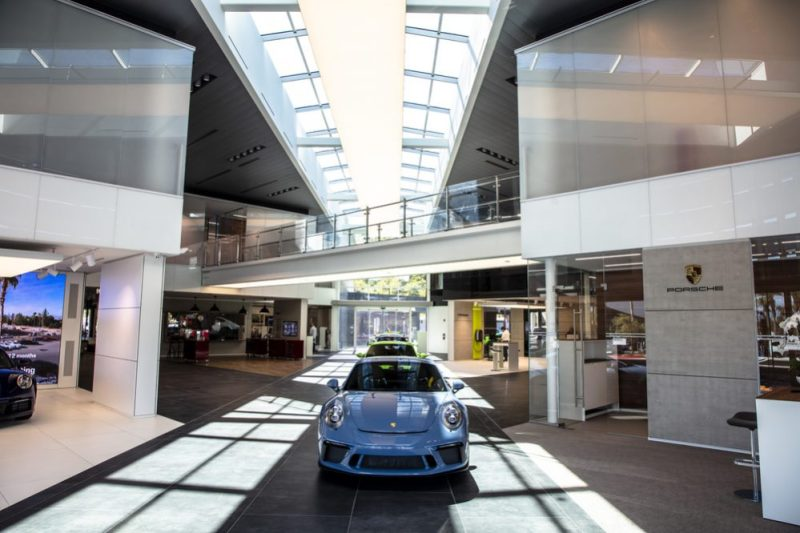 The interior of the new Porsche Centre Palm Springs