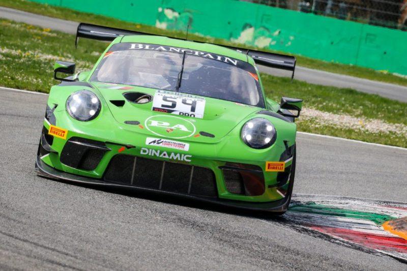 Porsche 911 GT3 R, Dinamic Motorsport 54 Klaus Bachler, Andrea Rizzoli, Zaid Ashkanan