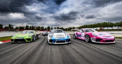 Porsche 911 GT3 Cup, Gianmarco Quaresmini (I), Roar Lindland (N), Michael Ammermüller (D), Porsche Mobil 1 Supercup, Barcelona 2019