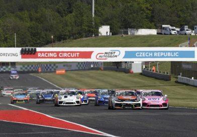 Larry ten Voorde wins the 3rd race of the Porsche Carrera Cup Deutschland in Most