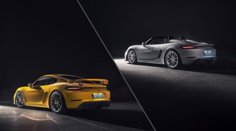 New top sports cars with naturally aspirated engines: The Porsche 718 Spyder and 718 Cayman GT4