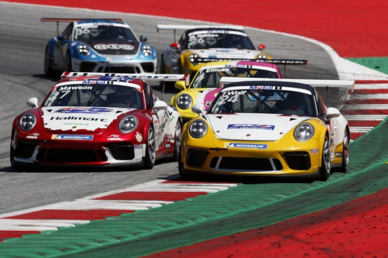 Porsche 911 GT3 Cup, Joey Mawson (AUS), Toni Wolf (D), Porsche Mobil 1 Supercup, Spielberg 2019