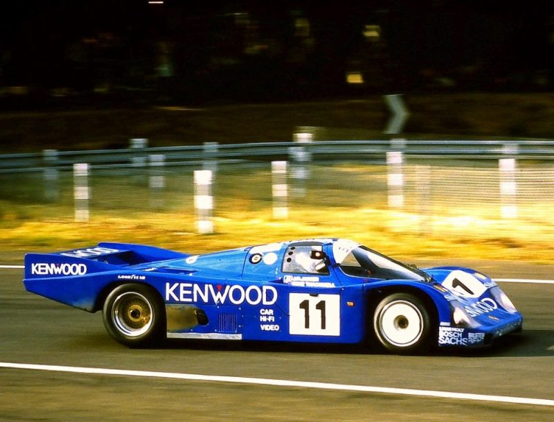 Porsche 956 - Jean-Pierre Jarier, Mike Thackwell & Franz Conrad at Tetre Rouge at the 1985 Le Mans