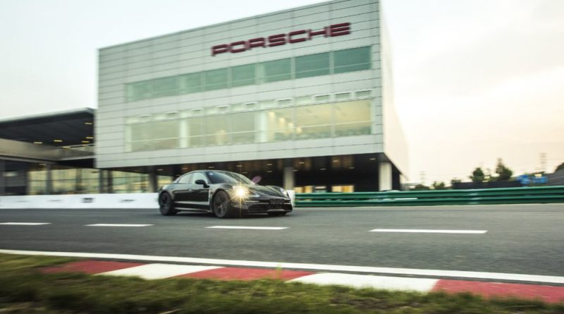 Porsche Taycan prototype at the PEC in Shanghai : Premiere