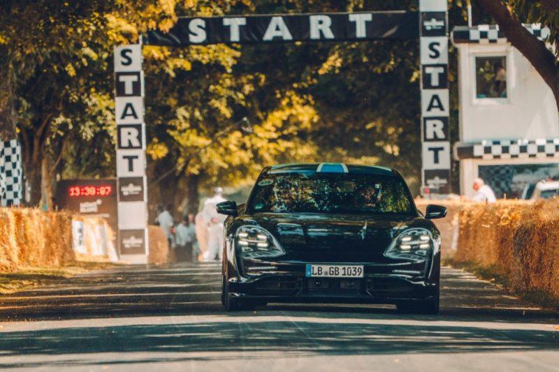 Porsche Taycan succeeds at Goodwood Festival of Speed