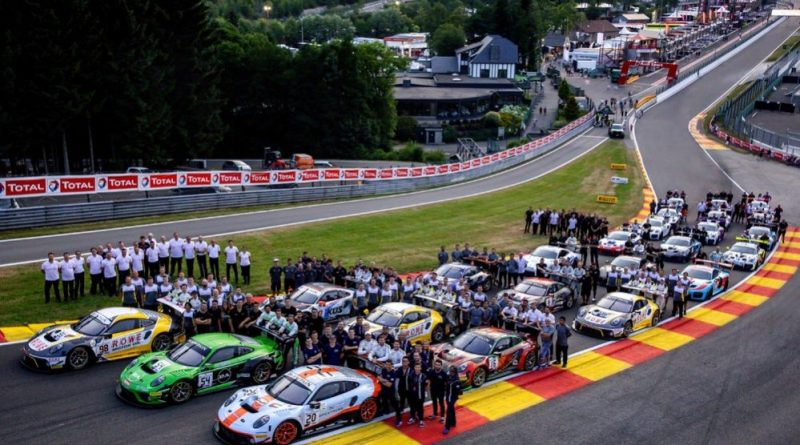 Total Spa 24H Total 24 Hours of Spa 2019, Porsche group shot