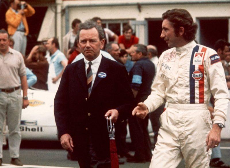 Ferry Porsche and Jo Siffert in Le Mans 1970