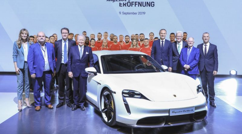 Factory opening for the Porsche Taycan in Stuttgart-Zuffenhausen