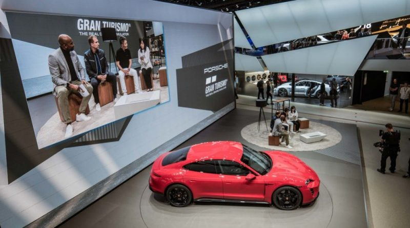 Joint press conference of Porsche and Polyphony Digital Inc. at the IAA.