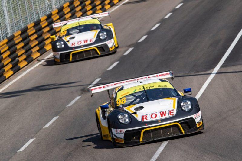 Porsche 911 GT3 R, ROWE Racing (98), Earl Bamber (NZ), ROWE Racing (99), Laurens Vanthoor (B).pg
