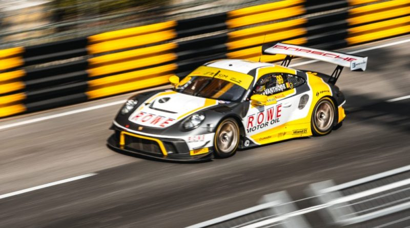 Two Porsche 911 GT3 R qualify in the top group in the FIA GT in Macau