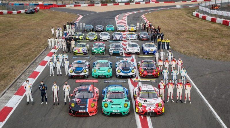 Porsche start grid Nurburgring
