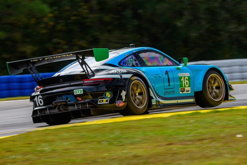 Porsche 911 GT3 R, Wright Motorsports (#16), Patrick Long (USA), Ryan Hardwick (USA), Jan Heylen (B)