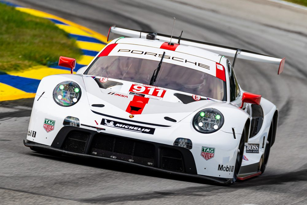 """photo of Porsche heads into IMSA Weathertech """"Petit Le Mans"""" from positions 4 and 6 image"""