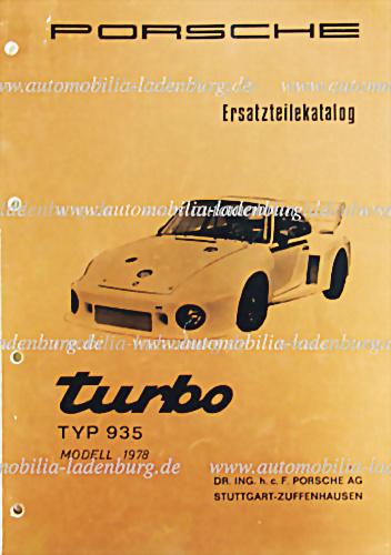 Porsche 935 Spare-parts catalog