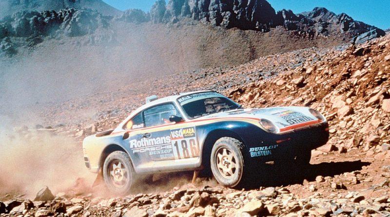 Rene Metge / Dominique Lemoyne win 1986 Paris Dakar in Porsche 959
