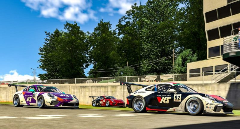 Porsche 911 GT3 Cup, Joshua Rogers (AUS), #92, Tommy Ostgaard (N), #58, Kevin Ellis Jr. (GB), #30, Porsche TAG Heuer Esports Supercup, 2021