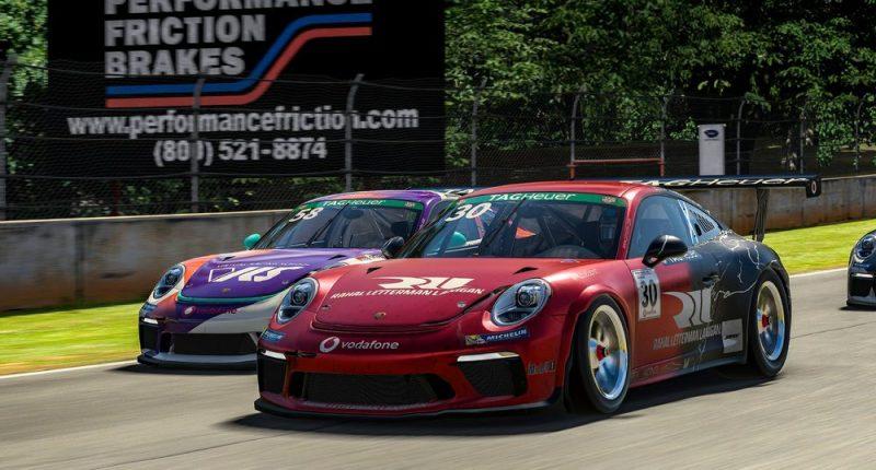 Porsche 911 GT3 Cup, Tommy Ostgaard (N), #58, Kevin Ellis Jr. (GB), #30, Porsche TAG Heuer Esports Supercup, 2021