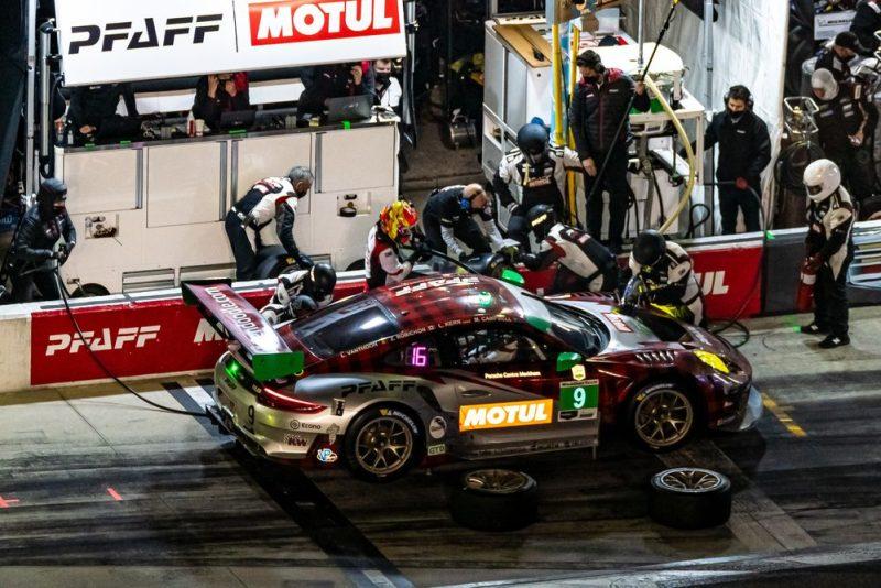 Porsche 911 GT3 R, Pfaff Motorsports #9, Zacharie Robichon (CDN), Laurens Vanthoor (B), Lars Kern (D), Matt Campbell (AUS)