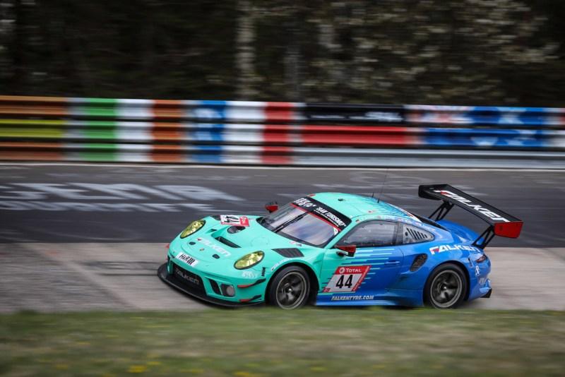 Porsche 911 GT3 R, Falken Motorsports (#44), Klaus Bachler (A), Martin Ragginger (A), Sven Müller (D), Alessio Picariello (B)