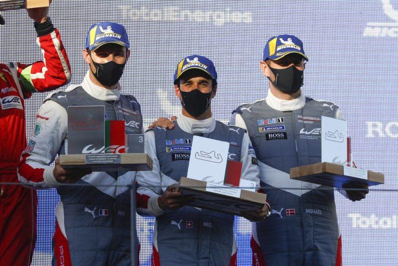 FIA WEC Portimao Porsche GT Team (#92), Kevin Estre (F), Neel Jani (CH), Michael Christensen (DK) (l-r) - FIA WEC Portimao 2021
