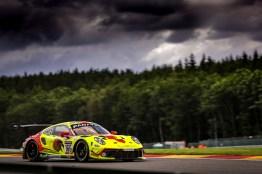 Porsche 911 GT3 R, Hägeli by T2 Racing (#166), Marc Basseng (D), Dennis Busch (D), Pieder Decurtins (CH), Manuel Lauck (D)