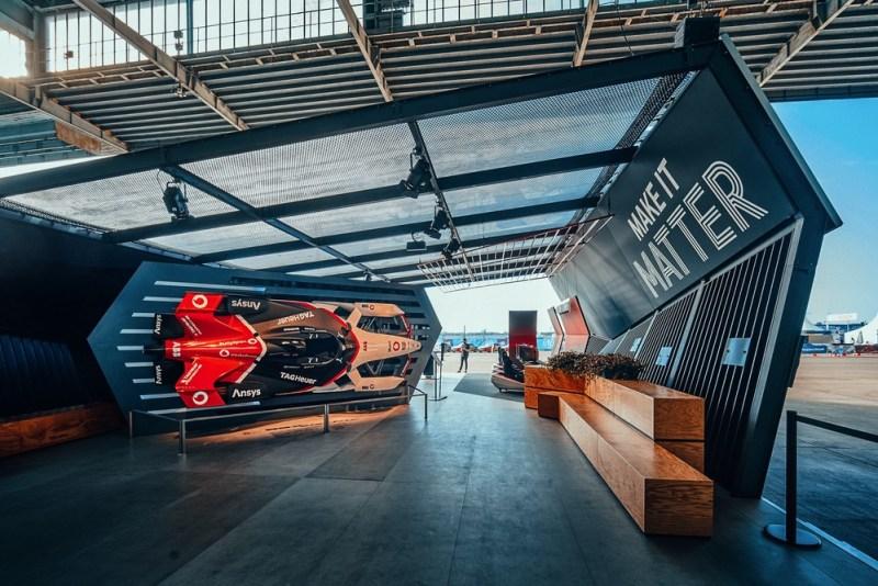 Porsche booth in the E-Village