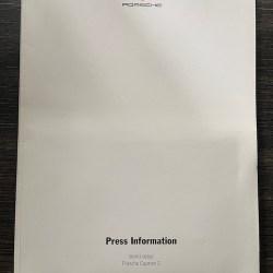 Press Kit World debut Porsche Cayman S (2005)