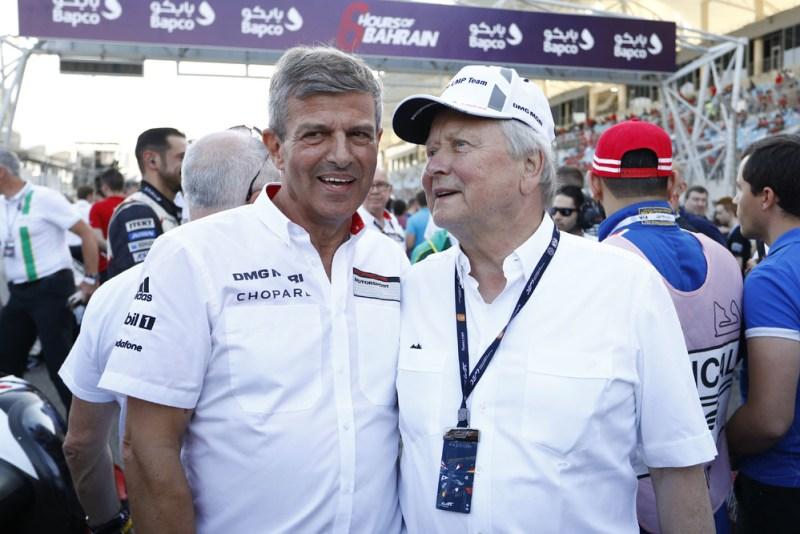 Bahrain 2017- Fritz Enzinger, Vice President LMP1; Dr. Wolfgang Porsche, Chairman of the Supervisory Board Porsche AG (l-r)